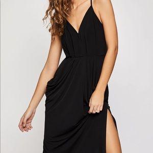 BCBG Faux Wrapped Midi Dress